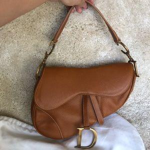 Like-new Dior Saddle bag - tan